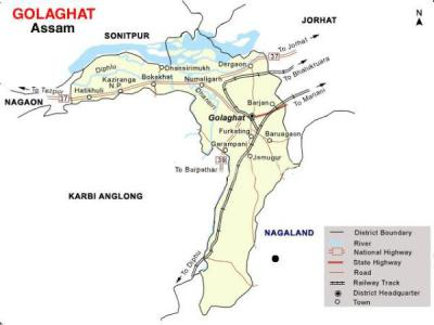 Golaghat District Map