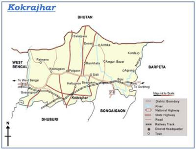 Kokrajhar District Map