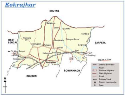 Kokrajhar District Map