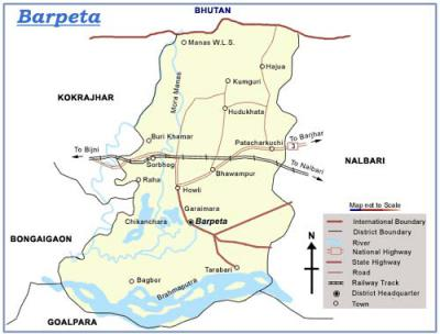 Barpeta District Map