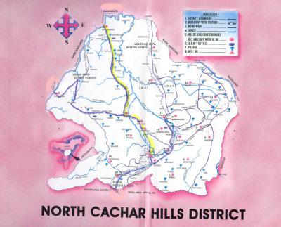 North Cachar Hills District Map