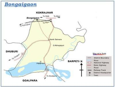 Bongaigaon District Map