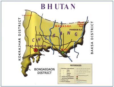 Chirang District Map