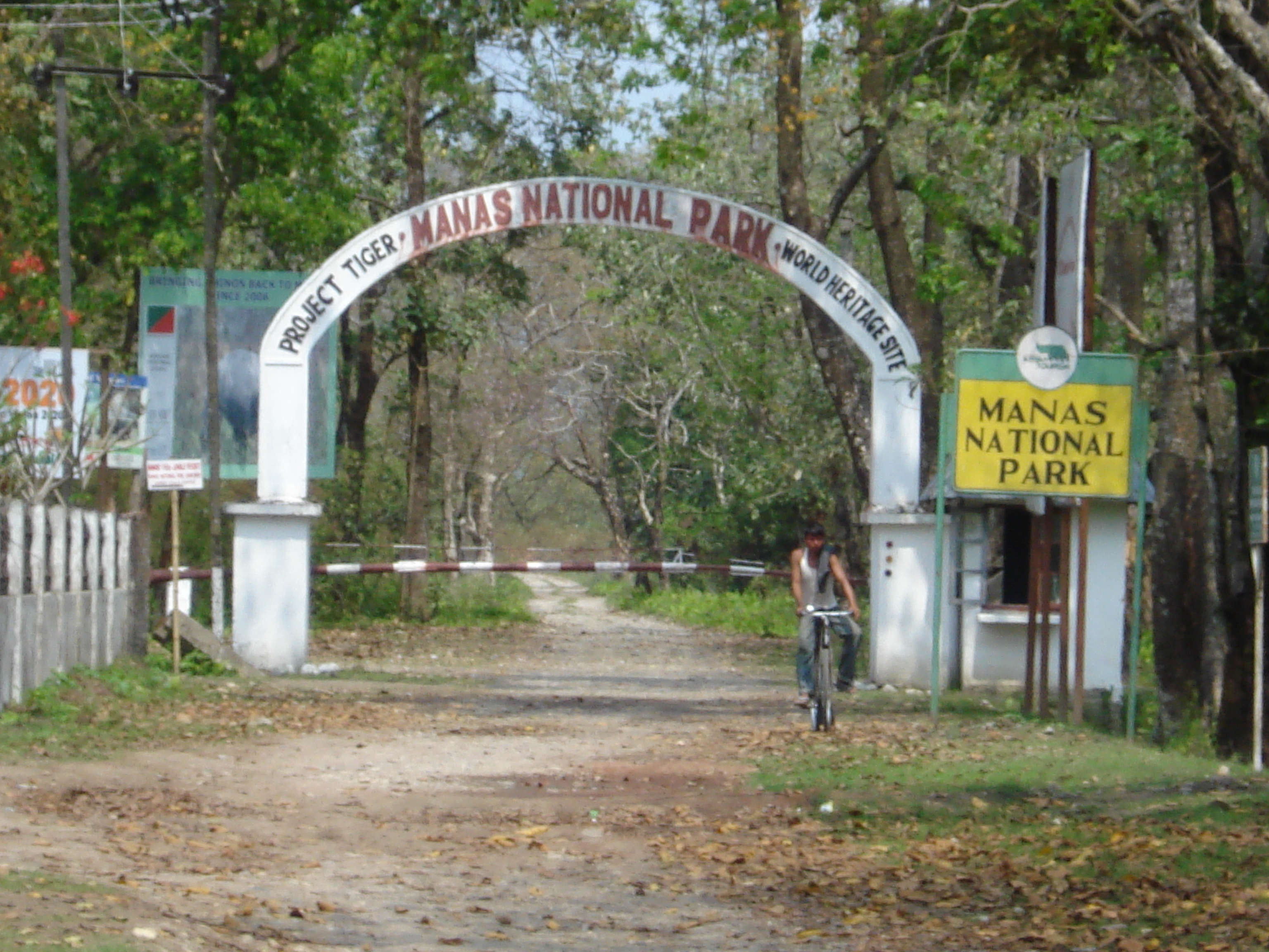 Assam Wallpapers Manas National Park Entry Gate Of