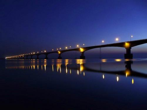 Night view of bhumuraguri bridge tezpur