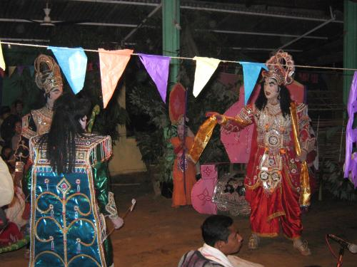 Bhaona in Banmukh Chutia Gaon Naamghar(Maajgaon), Sivasagar, Assam