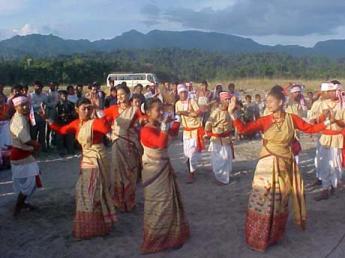 Bohag Bihu Or Rongali Bihu celebration in assam