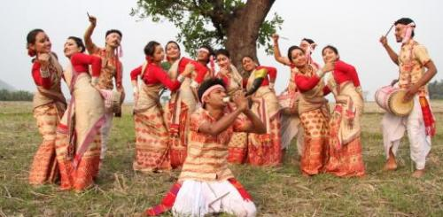 Bohag Bihu Or Rongali Bihu celebration in assam