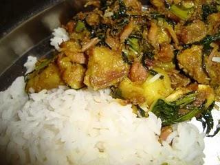 Pork With Laihak Or Laihakor Gahori Or Laihak Diya Gahori Or Gahori Laihak